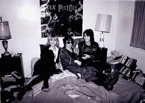 Stiv Bators, Joan Jett and Cynthia Ross in 1979 at Jett's LA apartment (originally seen in CREEM Magazine)