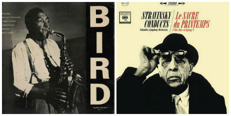 Musical universes collide: When Charlie Parker flipped Igor Stravinsky the (Fire)Bird