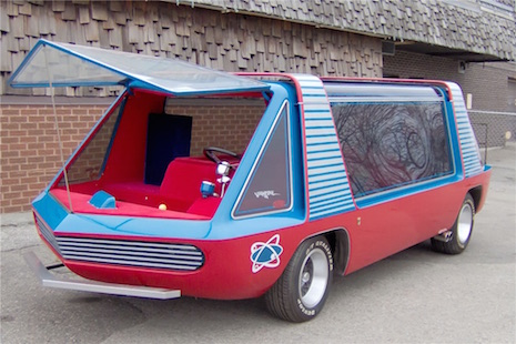 A view from the front of George Barris'