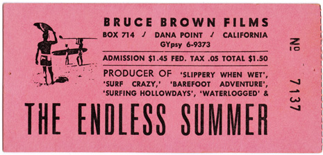The lost art of surfer movie tickets