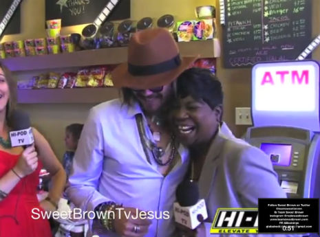 'Oh Lord Jesus, it's Johnny Depp!': Sweet Brown meets 'Johnny Depp'