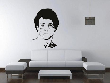 Sylvester Stallone wall art