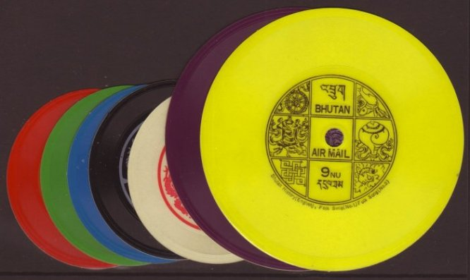 Talking stamps: Tiny vinyl record postage stamps that were playable, 1972