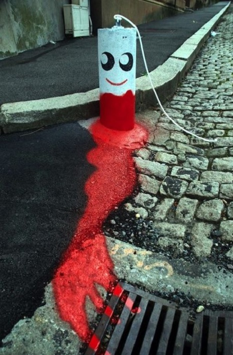 tampon street art