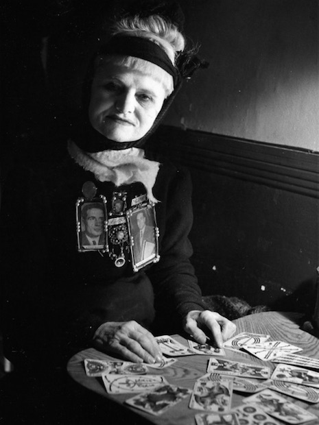 Tarot card reader and occultist, Madame Arthur, Paris, 1951