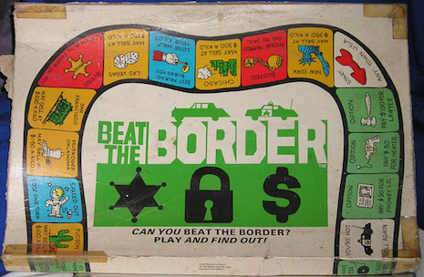 Beat the Border board game, 1971