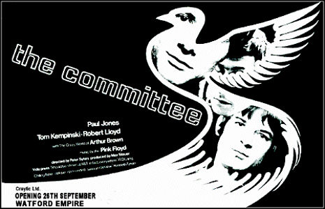 'The Committee': British cult film with early Pink Floyd soundtrack, 1968