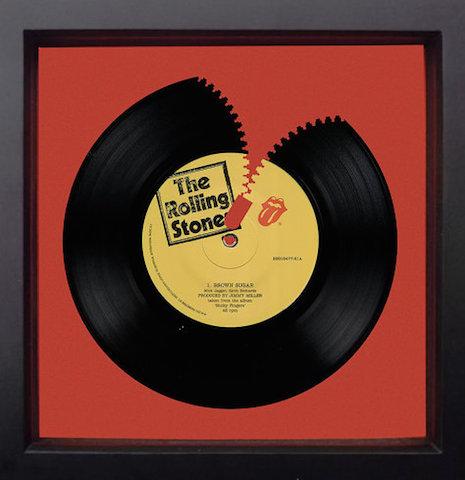 The Rolling Stones Brown Sugar die cut record