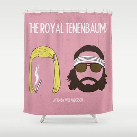 Margo and Richie Tenenbaum (from The Royal Tenenbaums) shower curtain