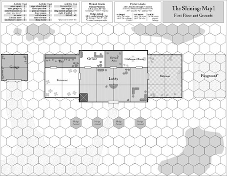 The Shining board game map one