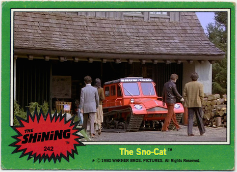 The Sno-Cat The Shining Trading Cards
