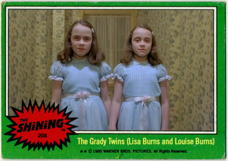 Things that should exist: Vintage trading cards based on 'The Shining'
