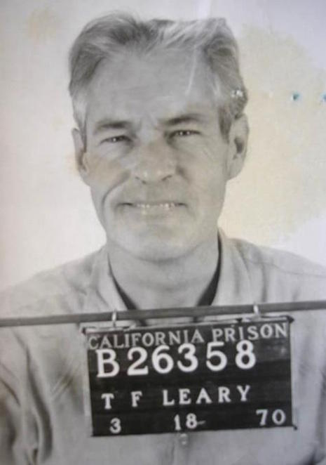 Timothy Leary's prison mugshot, 1970