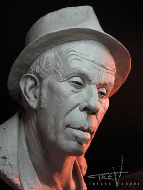 Tom Waits sculpture by Trevor Grove