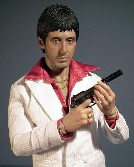 Tony Montana Respect figure with Beretta 81