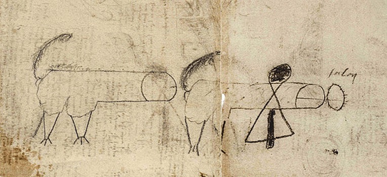 An X-rated doodle from the notebooks of Leonardo da Vinci