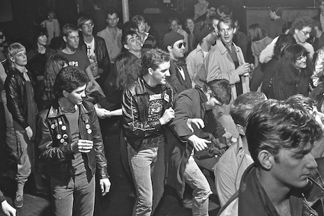 Punks getting down at The Island in Houston, Texas 1982