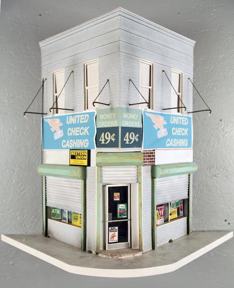 United Check Cashing miniature replica