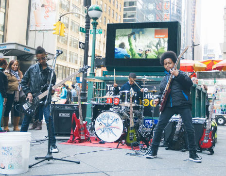 Badass 11 year olds playing metal in NYC