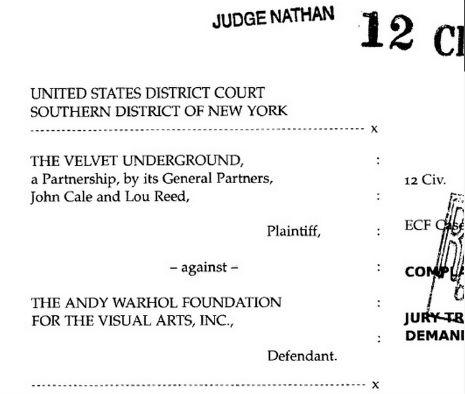 Velvet Underground-Warhol lawsuit