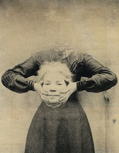 Headless photographs from Victorian cut-ups