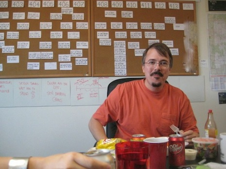 Vince Gilligan in the Breaking Bad writers' room