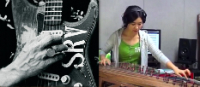 Luna Lee plays SRV: 'Scuttle Buttin' gayageum version