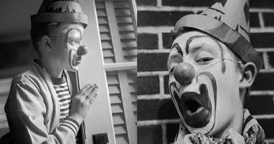 12-year-old Christopher Walken in clown makeup will make you hate clowns a little less (or will it?)