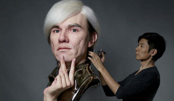 Hyperrealistic sculptures of Andy Warhol, Salvador Dali and Abraham Lincoln