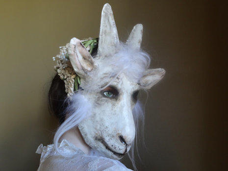Wedding guest goat mask by Krista Argale