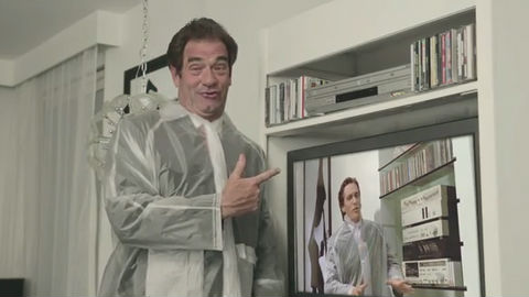 Huey Lewis reenacts the Huey Lewis scene from 'American Psycho' and kills Weird Al Yankovic