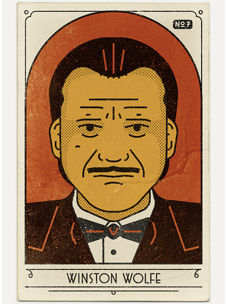 Winston Wolfe vintage look poster from Pulp Fiction