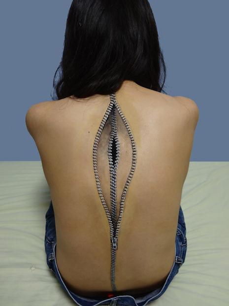 3-D body art by Hikaru Cho