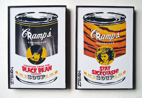 The Cramps pop art soup cans by Zteven