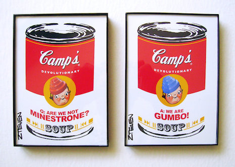 Devo pop art soup can art by Zteven