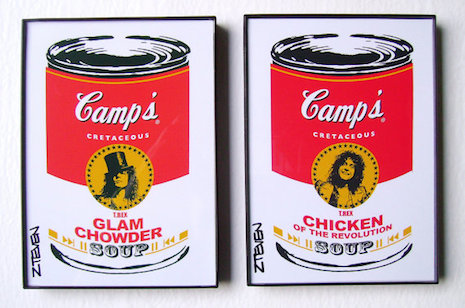 Marc Bolan pop art soup cans by Zteven