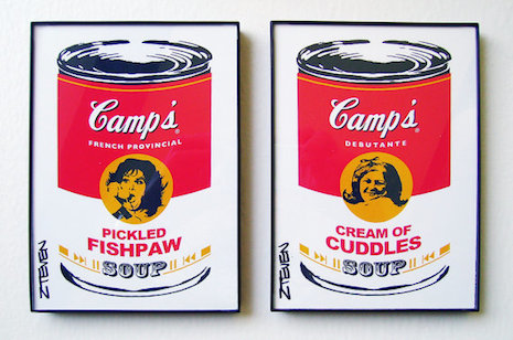 Polyester pop art soup can by Zteven