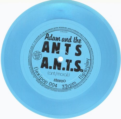Adam and the Ants Flexipop! flexidisc from Flexipop! #4