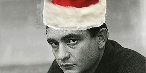 Johnny Cash as Santa Claus