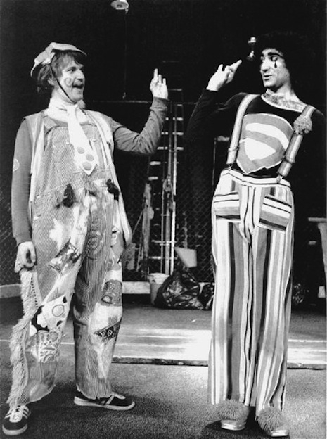 Dave Thomas and Eugene Levy in Godspell