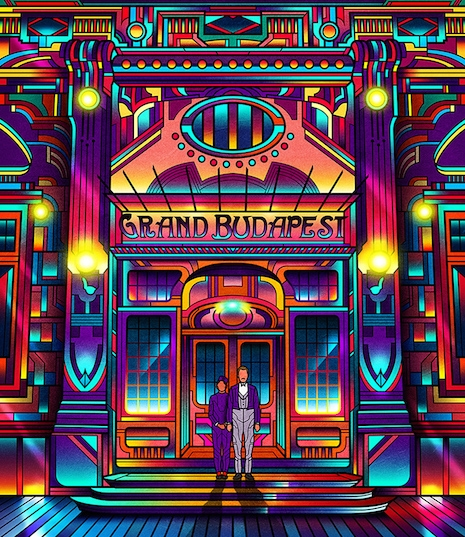 The Grand Budapest Hotel neon poster by Van Orton Design