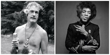 Timothy Leary and Jimi Hendrix