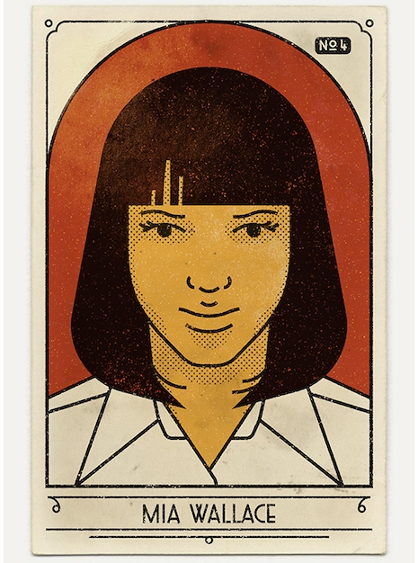 Mia Wallace vintage look poster from Pulp Fiction