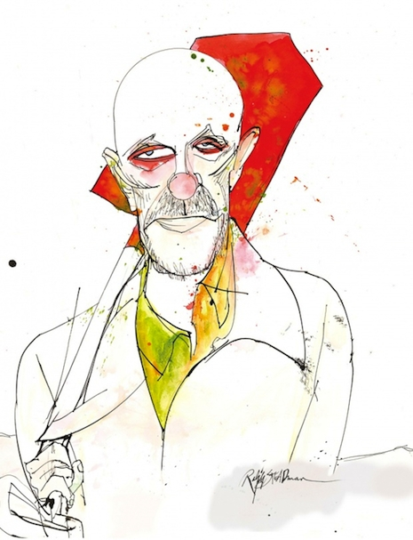 Mike Ehrmantraut by Ralph Steadman