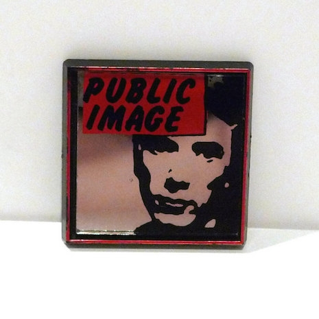 Public Image mirror badge, early 80s