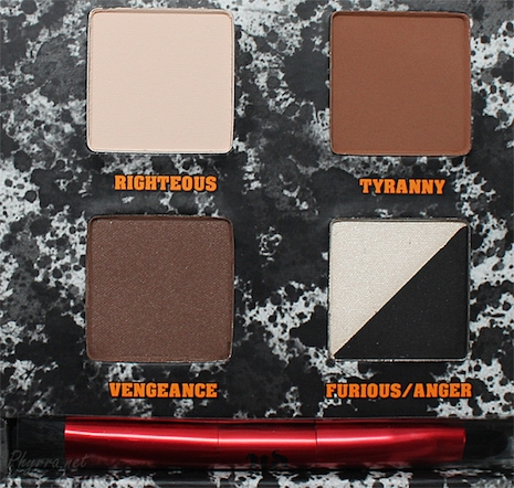 Pulp Fiction Palette colors by Urban Decay