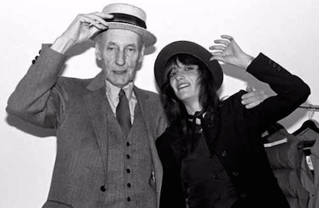 William Burroughs and photographer, Marcia Resnick