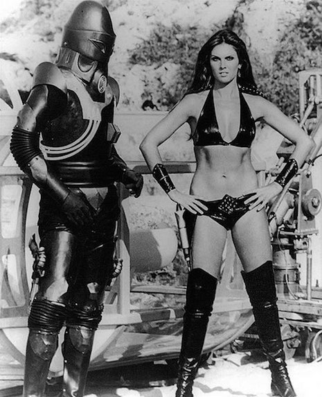Actress Caroline Munro and