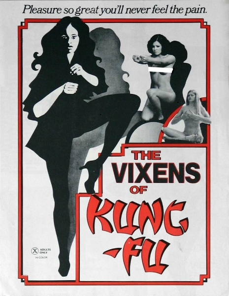 Poster Art for Vixens of Kung Fu